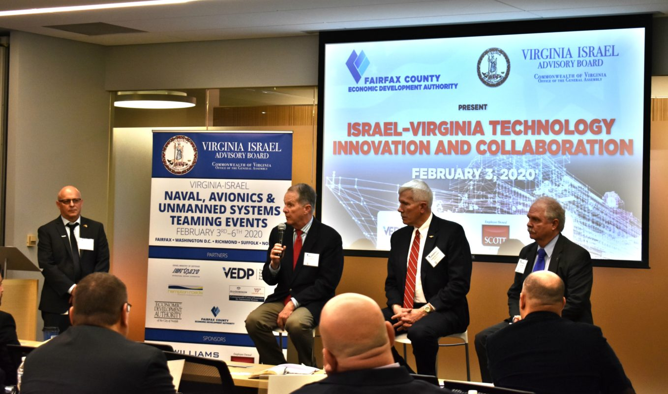 Panel on Defense industry trends Duane Baker Lockheed Martin (right) James (Gib) Goodwin III RADM U.S. Navy (ret.) Lt Gen. Ted Bowlds U.S. Airforce (ret.) (Left) Asher Kotz Fairfax County (Moderator).