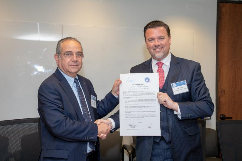 Brett A. Vassey President & CEO Virginia Manufacturers Association and Shraga Brosh President of the Manufactures Association of Israel signed an MOU to develop manufacturing and R&D partnerships.